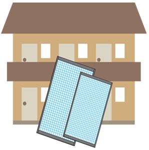 アパートの網戸張替えの網戸修理と交換